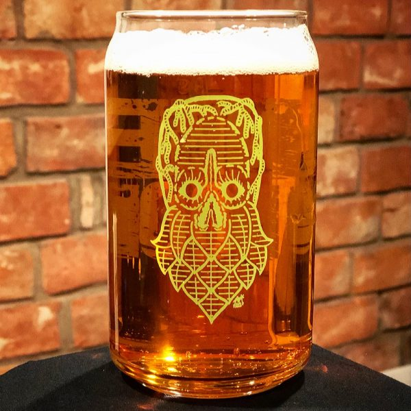 Hopthulu Beer Can 16oz Glass